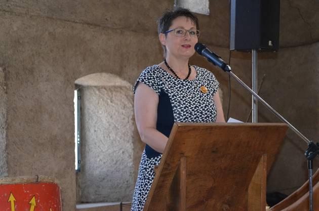 Regierungsrätin Franziska Roth überbringt die Grussbotschaft.