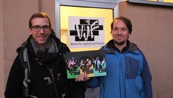 Andreas Bürgisser (Theaterpädagoge, links) und Simon Landwehr (Kulturpool) bringen mit «infiziert» nun auch Jugendtheaterkurse nach Wohlen.