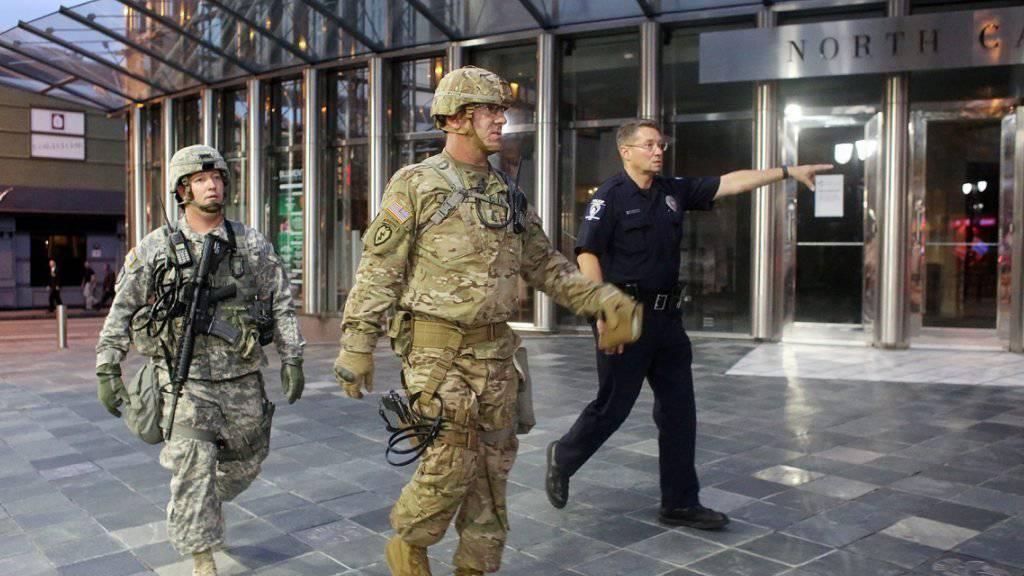 Ausnahmezustand in Charlotte: Im US-Bundesstaat North Carolina wird mittlerweile friedlich demonstriert.