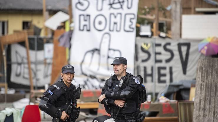 Die Polizei war schon am Freitag vor Ort.