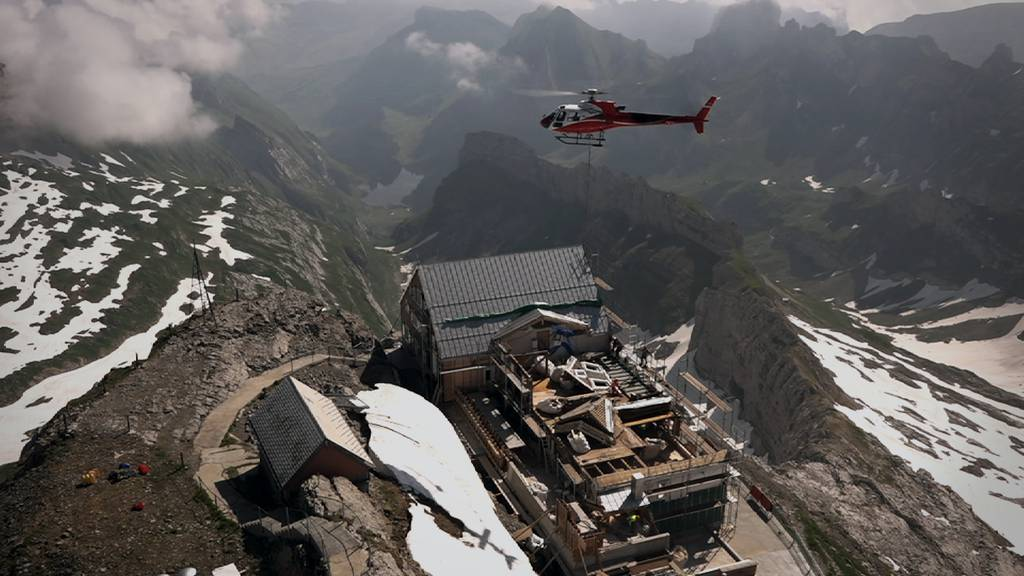 Auf der höchsten Baustelle der Ostschweiz