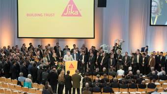 An der letzten Generalversammlung trat das Sika-Management als geeinte Front auf.URS FLÜELER/Keystone