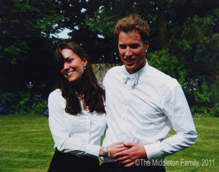 Kate Middleton posiert mit Prinz William