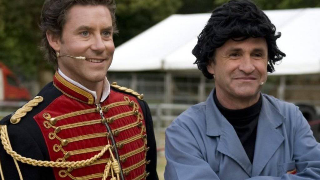 Sven Furrer (l) und René Rindlisbacher alias Duo Edelmais 2011 im Zirkus Knie (Archiv).