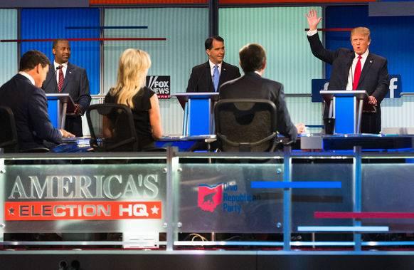 Debatte der Republikaner im August 2015 auf Fox News.