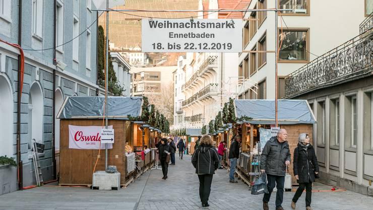 Der Ennetbadener Weihnachtsmarkt findet zum ersten Mal statt.