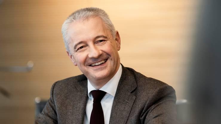 Fabrice Zumbrunnen, Präsident Migros-Genossenschafts-Bund (MGB), fotografiert am 19. November 2020 am Migros Hauptsitz in Zürich.