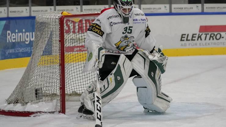 Verletzt: EHCO-Goalie Matthias Mischler.
