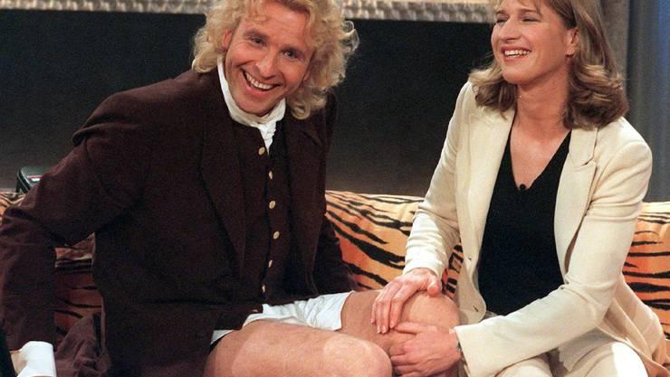 1997 auf dem Sofa mit Steffi Graf.