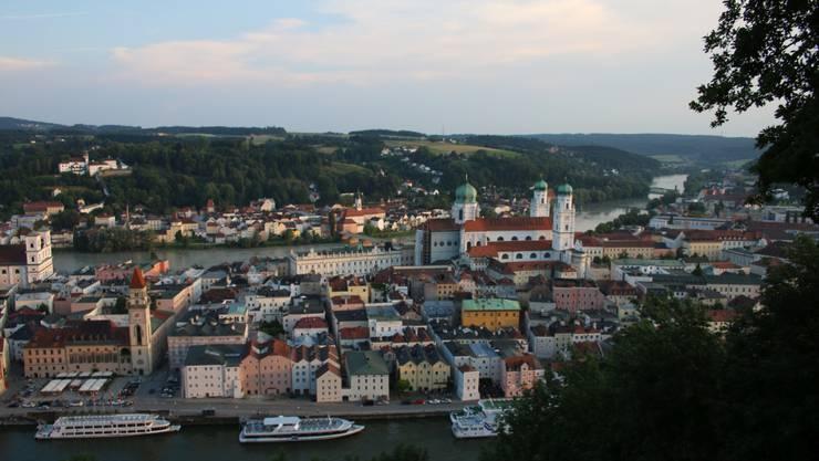 Passau: In der «Dreiflüssestadt» fliessen die Donau, Inn und Ilz zusammen.