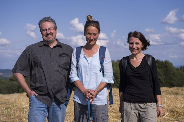 Beat Flach, Nationalrat, Susanne Hochuli (M.), Regierungsrätin, und Yvonne Feri, Nationalrätin
