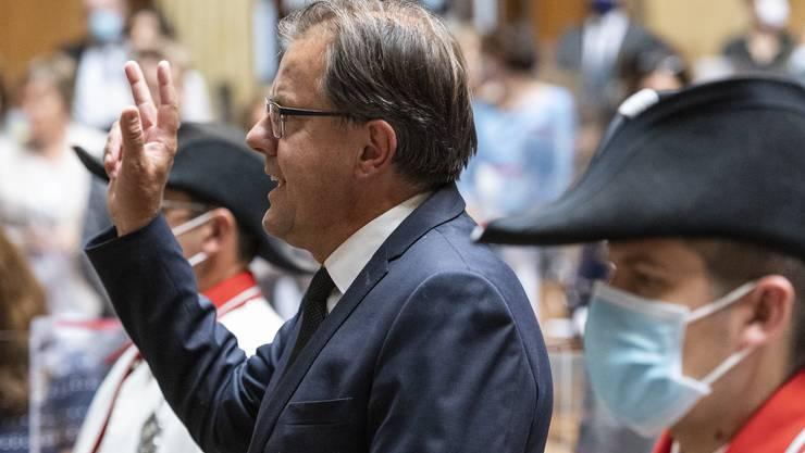Peter Schilliger (FDP/LU)  wird am ersten Tag der Herbstsession vereidigt.