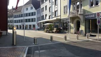 In Olten bereits in Betrieb: So eine Poller-Anlage soll Basel auch bekommen.