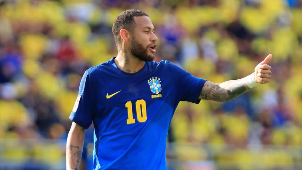 Auch der nach einer Sperre zurückgekehrte Neymar konnte Brasilien nicht zum Sieg verhelfen.