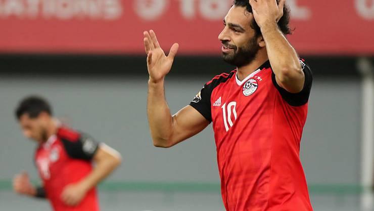 Mohamed Salah schoss Ägypten am Afrika-Cup mit einem herrlichen Freistosstor im letzten Gruppenspiel in die Viertelfinal