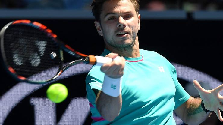 """Ein einfacherer Tag im """"Büro"""" als am Montag: Stan Wawrinka erreichte am Australian Open ohne Probleme die 3. Runde"""