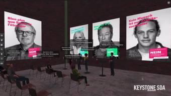 """Operation Libero hat ihre Kampagne gegen die Kündigungsinitiative mit einer virtuellen Vernissage lanciert. Die liberale Bewegung setzt in ihrer Kampagne auf ein Europa der Menschen und bekämpft den Abbau von freiheitlichen Errungenschaften. An einer Medienkonferenz im Online-Game """"Second Life"""" konnten Journalisten die Ausstellung bereits besuchen. Ab Dienstagabend ist sie für die Öffentlichkeit zugänglich."""