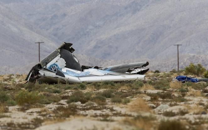 Trümmerteile von SpaceShipTwo.