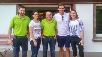 Roger Federer machte einen entspannten Eindruck bei seinem Besuch im Alpstein.