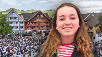 Die 21-jährige Adriana zog vor 5000 Anwesenden über den Landammann her.