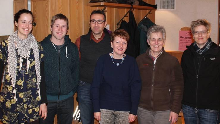 Der komplette Vorstand der MG Asp (von links): Pia Windisch, David Wernli, Marcel Wernli, Monika Hochstrasser, Vreni Wernli, Sandra Berger