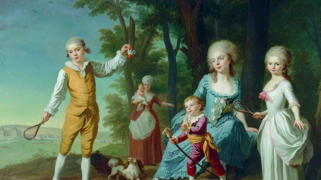 Die Kinder de Bauffremont sind auf dem gleichnamigen Gemälde aus dem Jahre 1782 mit Attributen des hochadeligen Standes ausgestattet.