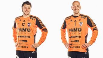 Die HSC-Torhüter Dario Ferrante (l.) und Dragan Marjanac erlebten zuletzt zwei schwächere Partien.