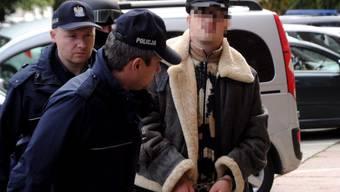 Fabrice A. bei seiner Verhaftung in Polen.