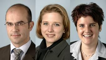 Alain Berset, Christa Markwalder und Jasmin Hutter