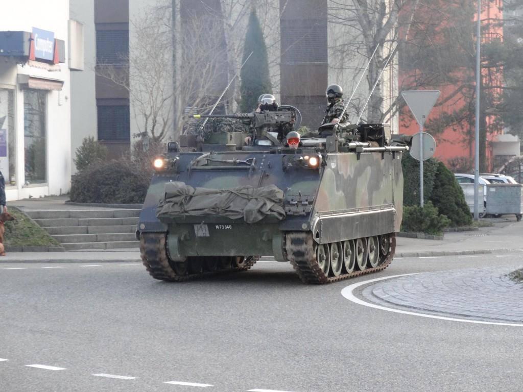 Die Panzerverschiebung dauert noch bis zum kommenden Mittwoch. (© PIO Lukas Graf / Artillerie Abteilung 10)