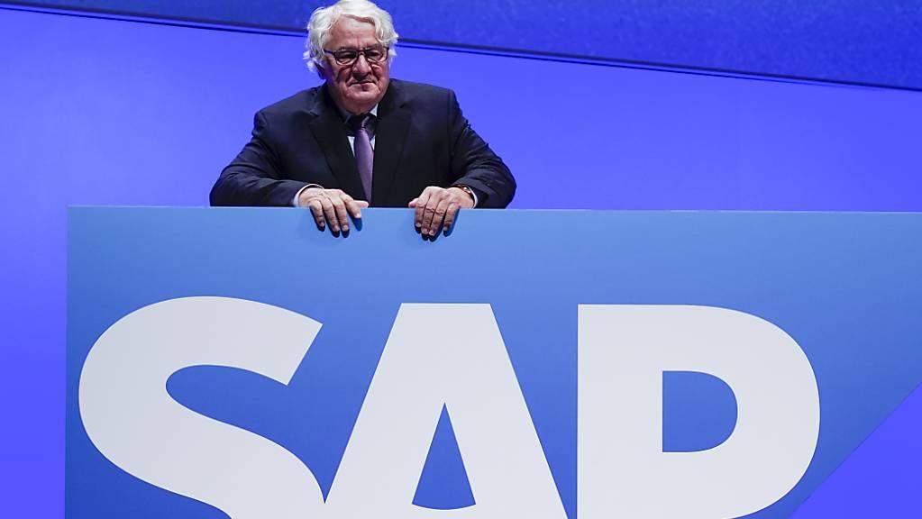 Der deutsche Softwareriese SAP kann auf ein starkes zweites Quartal zurückblicken - im Bild der SAP-Mitgründer und Vorstandsvorsitzende Hasso Plattner. (Archiv)