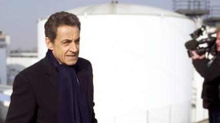 Nicolas Sarkozy beim AKW Fessenheim
