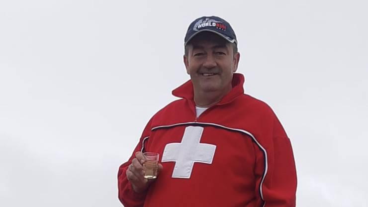 Goran Nedic hat eine neue Wetterstation auf den Vogelberg gebracht.