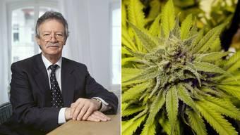 Martin Killias und Cannabis – da schüttelt der Strafrechtsprofessor den Kopf. Er will nicht kiffen.