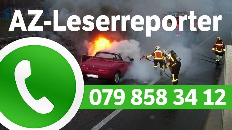 Schicken Sie per WhatsApp Videos, Bilder oder Hinweise an 079 858 34 12.