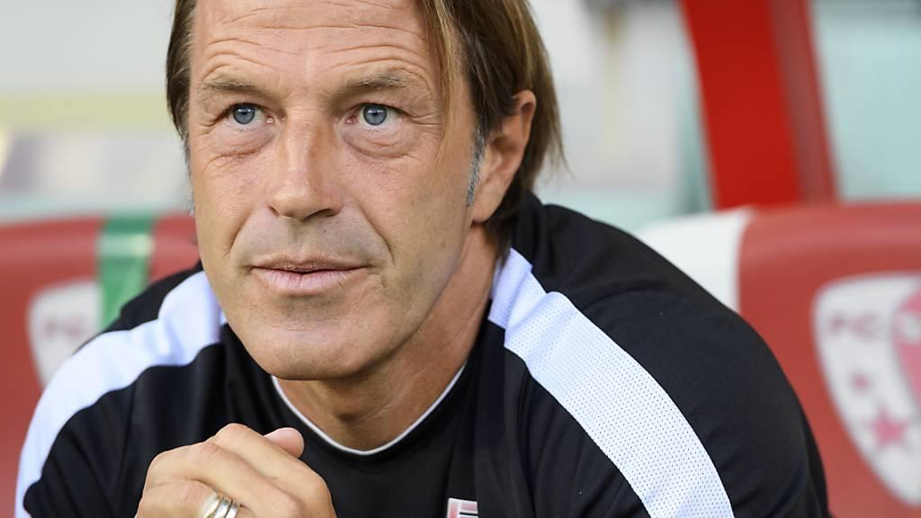 Noch darf Trainer Paolo Tramezzani für seine Sittener guten Mutes sein