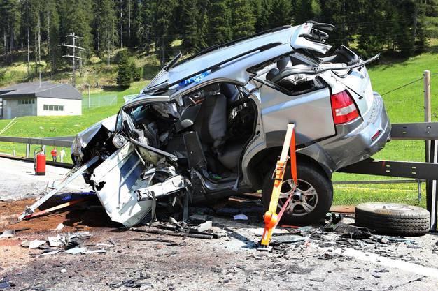 Der Unfall ereignete sich zwischen Sufers GR und Splügen GR.
