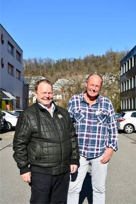 Organisieren den Brugger Umzug: Thomas Steinhauer (links) und Bruno Schuler.