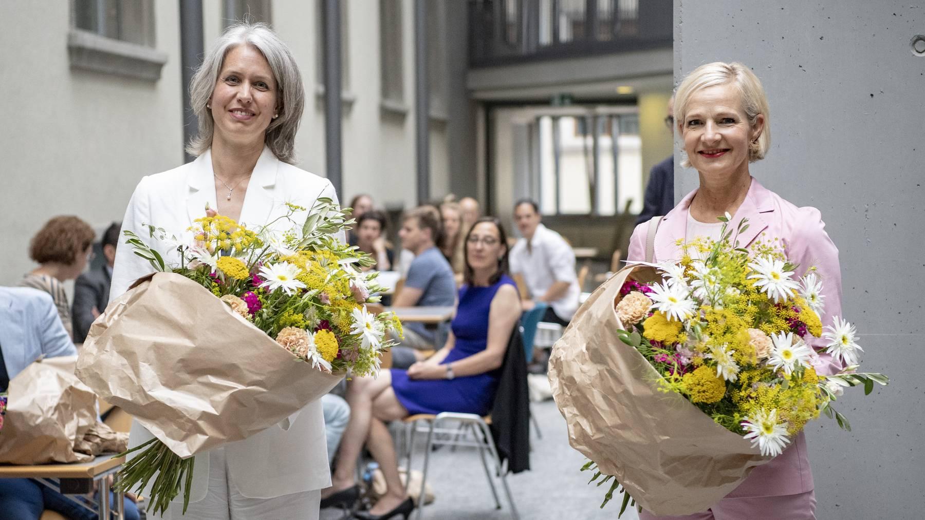 Franziska Bitzi Staub (CVP) und Manuela Jost (GLP) sind für weitere vier Jahre als Stadträtinnen gewählt.