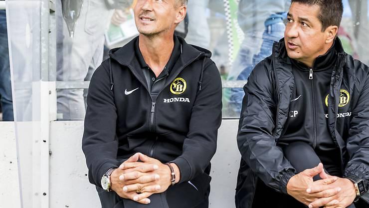 Trainer Adi Hütter (links) will mit den Young Boys im Europacup brillieren