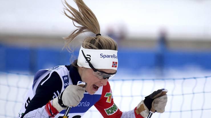 Mit wehendem Haar zu weiteren Titeln? Die Norwegerin Therese Johaug