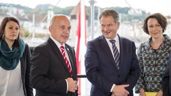 Der finnische Präsident Sahli Niinistö auf Staatsbesuch in der Schweiz