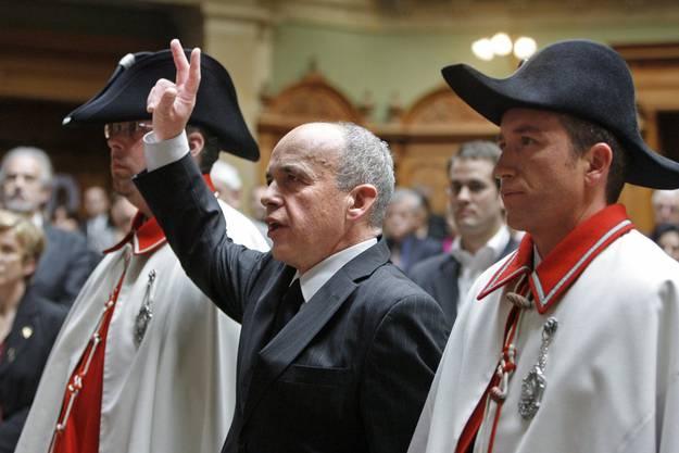 Ueli Maurer wurde 2008 zum Bundesrat vereidigt.