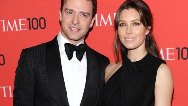 Erwarten nun auch offiziell Nachwuchs: Timberlake und Biel (Archiv)
