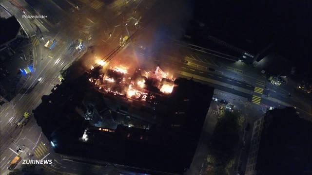 Grossbrand beim Zürcher HB: Gebäude ist einsturzgefährdet