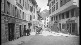 Rathausgasse um 1910.