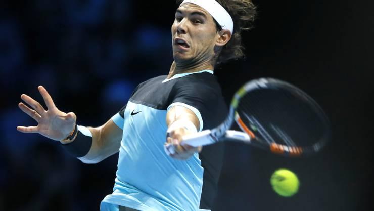 Kraftvoll und überzeugend: Rafael Nadal gewann an den ATP-Finals in London auch sein zweites Spiel gegen Andy Murray