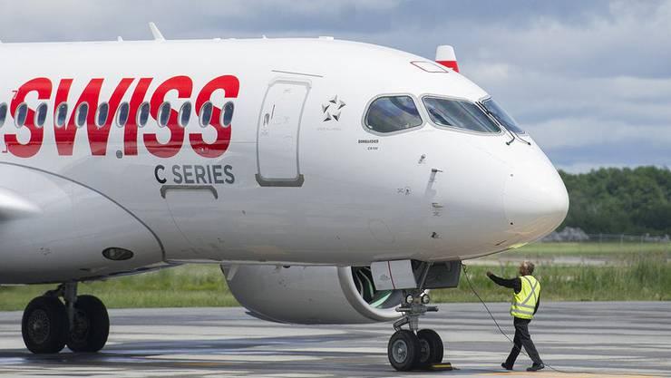 Bleiben zumindest teilweise am Boden: Die 29 Bombardier-Jets der Swiss.