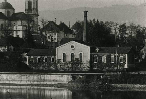 Das alte Gaswerk am Standort der heutigen Regio Energie (zvg)