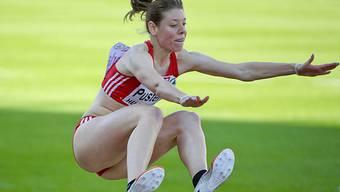 Irene Pusterla mit 6,20 m ausgeschieden.